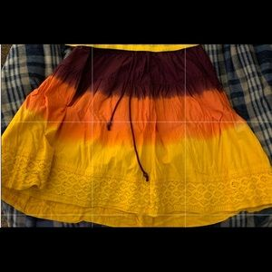 Women's top and skirt